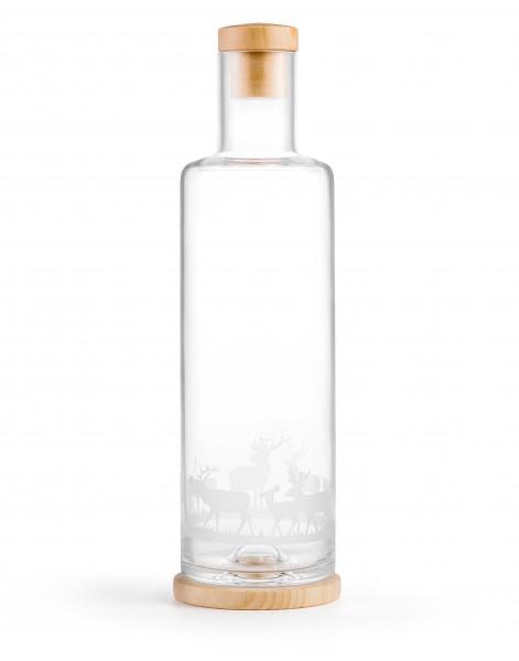 Servierflasche Zirbenholz - Hirsch 1.0 l