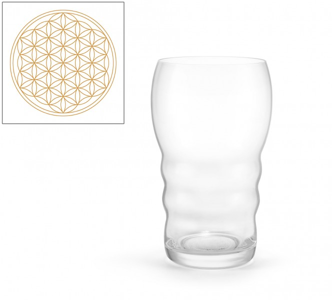 Trinkglas Galileo Gold