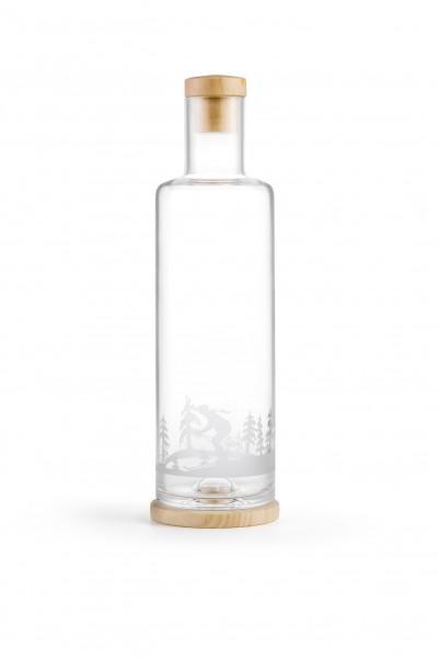 Servierflasche Zirbenholz - Skifahrer 1.0 l