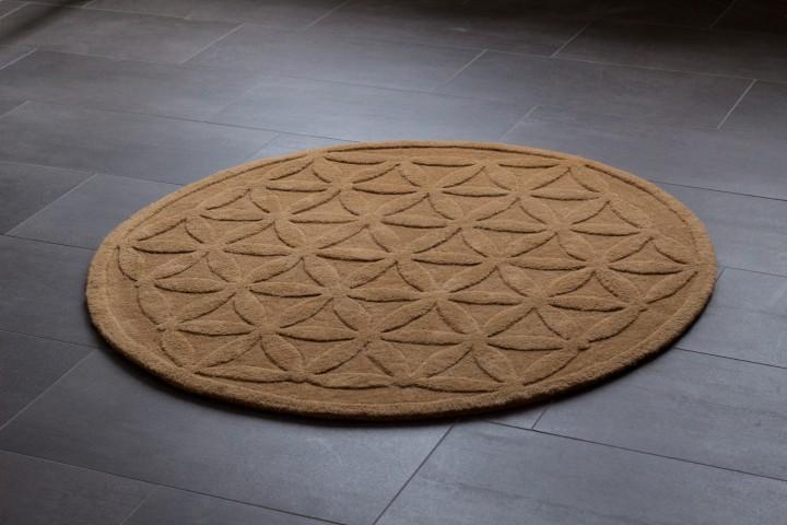 Handgetufteter Teppich Blume des Lebens