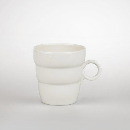 Shinno Tee- und Kaffeebecher, Lebensblume silbergrau