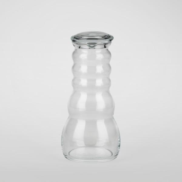 Cadus Krug 1 Liter white mit Glasdeckel
