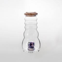 Cadus Krug 1 Liter mit Edelsteinen und Olivenholzdeckel