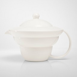 Shinno Teekanne, Lebensblume silbergrau
