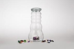 Cadus Krug 1 Liter mit Edelsteinen und Glasdeckel